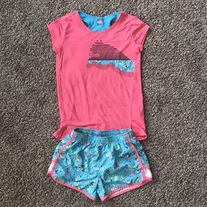 Girls Puma short and shirt set